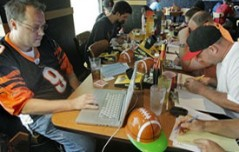 Fantasy Football Draft Man Cave Style